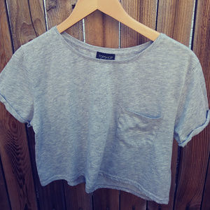 Topshop Cropped T